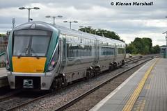 22051 departs Portlaoise, 4/9/15 (hurricanemk1c) Tags: irish train rail railway trains railways irishrail rok rotem portlaoise 2015 icr iarnród 22000 22051 éireann iarnródéireann 3pce 1415heustonportlaoise