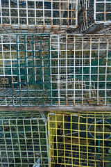 20150915 USA New England 01769 - Copy (R H Kamen) Tags: usa horizontal america outdoors photography trapped fishing day pattern order maine newengland nopeople cage stack backgrounds inarow lobstertraps lobsterpot colorimage largegroupofobjects fishingindustry animalthemes colourimage rhkamen