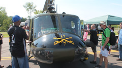 Iroquois (blazer8696) Tags: show usa ny newyork airport unitedstates bell 7 airshow helicopter international 17 swf iroquois ecw 2015 rotorcraft newwindsor img2847 uh1b stewartterrace kswf t2015 n206nj