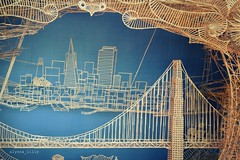 Bay Area with Toothpicks (alyssa_lilly) Tags: california bridge west art statue bay coast diy san francisco cityscape craft made toothpicks area section exploratorium