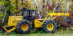 John Deere Grapple Skidder (ezigarlick) Tags: canada forestry logging manitoba equipment johndeere grapple skidder dawsontrail