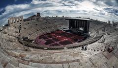 Verona, l'Arena (R.o.b.e.r.t.o.) Tags: sky people italy building architecture clouds concert italia nuvole gente outdoor unesco worldheritagesite concerto verona cielo veneto romanamphitheatre sigma15mmfisheye anfiteatroromano arenadiverona patrimoniodellumanit nikond700