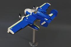 SX-82 Daphnia - left (Sylon-tw) Tags: sky plane airplane lego aircraft air seaplane aeroboat moc skyfi daphnia sylon sylontw