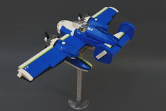 SX-82 Daphnia - left (SyBricks) Tags: sky plane airplane lego aircraft air seaplane aeroboat moc skyfi daphnia sylon sylontw