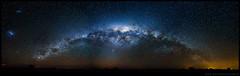 Panorama de la Vía Láctea en la estepa