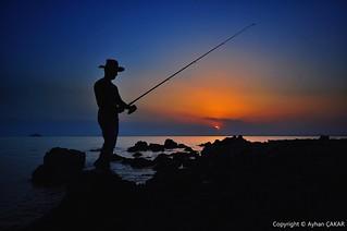 Sunset Burgazada Fisherman