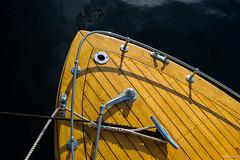Forward (Daniel [Zilcsak]) Tags: wood water boat shiny rope