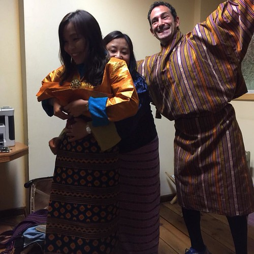 Being silly while getting dressed in traditional Bhutanese garb for the 4th kings 60 th birthday anniversary #lawofattractionmentor #globalsuccessclub #worldtraveler #whodoyoulistento
