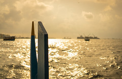 Farewell blues (sydbad) Tags: ferry port boat sony blues farewell maldives a6000 sel35f28z ilce6000