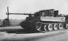 Tiger with tracks around the turret