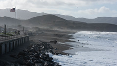 Pacifica 11-2015 (daver6sf@yahoo.com) Tags: wind americanflag pacificocean pacifica hightide northerncaliforniacoast