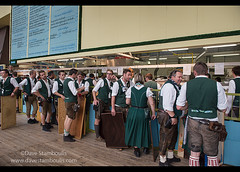 Waiters and waitresses in line at Oktoberfest in Munich, Germany (jitenshaman) Tags: travel party beer festival germany munich münchen bavaria mas europe drinking oktoberfest staff alcohol mug destination munchen heavy brew stein waiter bavarian dirndl hofbräu beertent beerhall worldlocations massweight