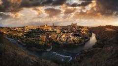 Panormica de Toledo (Ivn F.) Tags: city panorama tourism architecture clouds canon river landscape la is spain europe cityscape pano ngc paisaje toledo panoramica nubes f4 castilla mancha 1635mm canonistas visitspain