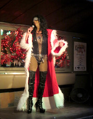 Cher'ing the Holidays (Georgie_grrl) Tags: christmas toronto ontario fun holidays churchstreet woodys pwa thbs canonpowershotelph330hs thenewdarkpinkside bowlingleaguefundraiser torontohistoricalbowlingsociety forpeoplewithaids bothnaughtyandnice