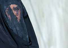 iranian shiite muslim woman mourning imam hussein on the day of tasua with her face covered by a veil, Lorestan Province, Khorramabad, Iran (Eric Lafforgue) Tags: portrait people woman face horizontal proud female religious outdoors women veil mourning adult iran muslim traditional religion middleeast pride headshot celebration shia ritual muharram ashura tradition hussein oneperson iman shiite ashoura hussain mourner 20sadult youngadultwoman persiangulfstates onewomanonly إيران иран tasua husayn colourimage 1people イラン irão shiism khorramabad 伊朗 tasoua westernasia 이란 lorestanprovince 15496 chehelmenbari