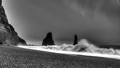 Iceland trip, Black Sand Beach (Andrew Kettell) Tags: iceland shore beach seaside hdr