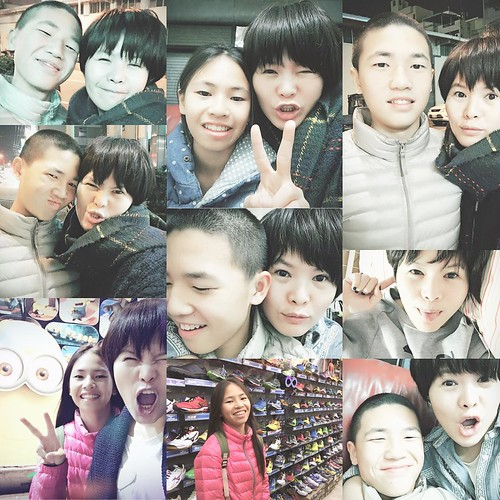 #my love #rich #13yrs #nina #10yrs #母子 #母女 #family #mommasboy #mommysgirl #taichung #selfie