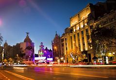 Week 48/52 - MAD (Kevin Camacho Polo) Tags: madrid city longexposure espaa canon spain traffic via gran metropolis trafico callealcal cityspace 52weeksproject