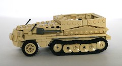 sd.kfz 250 v3 (mjbricks(flose master)) Tags: tank lego tan ww2 panzer halftrack sdkfz brickarms
