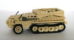 sd.kfz 250 v3 (mjbricks(flose master)) Tags: tank lego tan ww2 panzer halftrack sdkfz brickarms