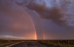 Albuquerque Rainbow, 7.16.15 (amyMhowardphoto) Tags: sky storm newmexico clouds canon rainbow albuquerque abq nm volcanic cumulonimbus yearinreview virga nmskies bocanegracanyon rainshaft abqwestside nmwx abqwx 2015inreview abqnws petroglyphnatlpark 2015wx