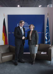Visit to the ICC by H.E. Mr Dirk Brengelmann, Ambassador of the Federal Republic of Germany in the Netherlands (ICC-CPI) Tags: internationalcriminalcourt courpnaleinternationale icc cpi judgesilviafernndezdegurmendi dirkbrengelmann federalrepublicofgermany