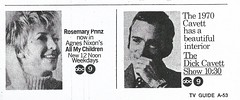 All My Children/Dick Cavett Show ad, 1970 (STUDIOZ7) Tags: tv television abc network kmsp channel9 rosemaryprinz agnesnixon dickcavett show allmychildren soapopera daytime drama talk ad advertisement 1970s 70s seventies