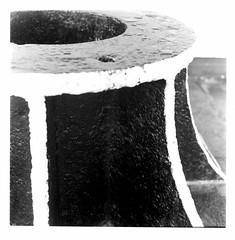 Harbourside (FTonyC) Tags: blackandwhite monochrome film minoltaautocord kodaktmax fomadonr09 tlr analogue 120film mediumformat bristol iron nautical harbour