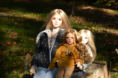 Family trip in the autumn forest (3) (JL_the_Lion) Tags: familytripintheautumnforest bjd 14 13 doll msd sd lissa iplehouse kid lisa the addiction peach gold karoline jid kassia annika eid yur autumn forest fall wood family sun outdoor outfit merrydoll bykojiro7 jewelry bazikotek raven666 jeans