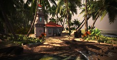 Lighthouse in Lovely Lagoon - Tropical Rentals and Public Areas (Vita Camino) Tags: secondlife giardini vita caminosim lagoon beach slur visit tropicalrentals best new ocean summer sim anthony gartner