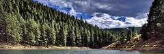 Palmer Lake Reservoir (stephenpapierski) Tags: reservoir palmerlake colorado frontrange nature water sky clouds cloud bluesky trees landscape