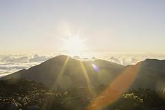Love (plainmama) Tags: sun sunrise sunflare haleakala hawaii maui vacation clouds mountains