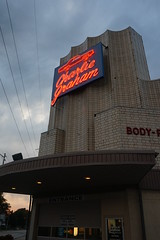 Charlie Graham at Twilight (Twang Your Head) Tags: neon googie auto repair