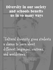 "Educational Postcard:  ""Cultural diversity gives students a chance to learn about different languages, customs, and worldviews."" (Ken Whytock) Tags: opportunities students cultural diversity different languages customs worldviews multicultural"
