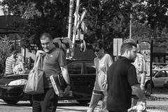 Crossing the tracks (kudzu 70) Tags: dogs downtownmarietta ga georgia historic marietta mariettasquare railroad tracks art gwtw history lighting locomotives shops signs sky stores streetphotography train trains