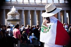 Mxico en Roma (Luis ngel Espinosa, LC) Tags: mxico bandera persona patria