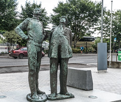 TWO WORKING MEN IN CORK [OISIN KELLYS SECOND PUBLIC ART INSTALLATION]-122297 (infomatique) Tags: twoworkingmen chaandmiah oisinkelly publicart williammurphy sculpture countyhall siptutradeunion everydayirishperson infomatique