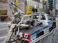 NYPD Tow Truck at barricaded off Trump Tower on Fifth Avenue, New York City (jag9889) Tags: jag9889 usa manhattan 20161110 fifthavenue outdoor 2016 725fifthavenue towtruck midtown newyorkcity nypd car trumptower donaldtrump newyork towing 5thavenue auto automobile finest firstresponder lawenforcement ny nyc newyorkcitypolicedepartment policedepartment transportation unitedstates unitedstatesofamerica vehicle us