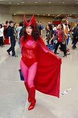 DSC_0557 (Randsom) Tags: nycc 2016 newyorkcomiccon nycomiccon javitscenter october nyc newyorkcity cosplay costume fun comicbooks comicconvention marvelcomics avengers heroine superheroine scarletwitch wanda vinyl spandex red wig brunette gorgeous lovely beauty sexy woman girl redlips boots cape female