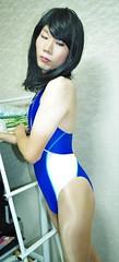 IMGP4442[1] (kisaki inao) Tags: crossdresser fetish swimsuit pantyhose