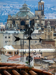 My mother told me that I have a chameleon soul: no moral compass pointing me due north; no fixed personality (Lentejas Puag) Tags: vane north cardinalpoints wind granada andalucia spain architecture arrow n s