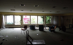 Hotel 'La Perla,' Lugano, R.I.P (roger.w800) Tags: abandoned derelict vandalised wrecked smashedup damage decay dereliction urbandecay swiss switzerland lugano agno luganoairport graffiti hotel closedhotel abandonedhotel hotellaperla laperlahotel laperlaagno