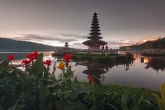 Gray Sunrise at Ulundanu Bratan Temple (Pandu Adnyana Photography Tour) Tags: sunrise bratan lake beratan bedugul temple hindu bali indonesia baliphotographytour baliphotographyguide balitravelphotography balilandscapephotography travel guide tour