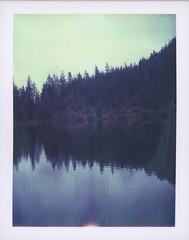 In the mirror. (feedmyhungryeye) Tags: polaroidweek mthood day6 oregon type100 landcamera polaroid expired 669