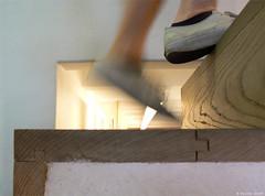 Dtails : Casa de la conchas (Maxime Gury) Tags: architecture architettura architektur arquitectura architectes architecte espagne dtail assemblage bois escalier casa conchas bibliothque publique library biblioteca