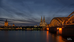 Cologne :-) (Claudia Brockmann) Tags: natur nature city cityscape stadt kln cologne hohenzollernbrcke klnerdom sundown longexposure langzeitbelichtung landscape