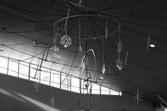 Day 330/366 : Illuminations in the Morning (hidesax) Tags: 330366 illuminationsinthemorning morning sun hanging stars bw ageo station saitama japan hidesax leica x vario 366project2016 366project 365project