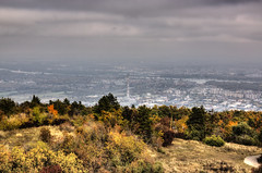 View of Budapest from the hills (Majorimi) Tags: autumn coming fall tree sky leaf forest road canon eos 70d digital color colorful nice hungary budapest city panorama view hills hill scenic hdr yellow green brown