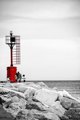 Red (Mario Ottaviani Photography) Tags: sony sonyalpha sea seascape italy italia paesaggio landscape travel adventure nature scenic exploration view vista breathtaking tranquil tranquility serene serenity calm red faro lighthouse selectivecolor biancoenero blackwhite blackandwhite black white bianco nero