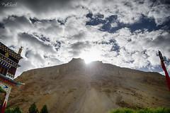 Sunrise at Kaza Monastery!! (Piyush.Saxenaa) Tags: nikon d5100 nikond5100 18105 18105mm nikon18105mmf3556 nikon18105mmafsdxzoomnikkorf3556gedvrlens piyush piyushsaxena piyushsaxenaa psphotography kaza kazamonastery morning sunrise cloud clouds sky mountain monastery outdoor bright sunshine scenery landscape blue white bluesky himachal himachalpradesh india